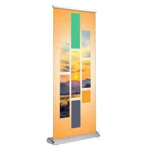 "Deluxe Retractable Banner Stand - Double Sided 33""x81"""