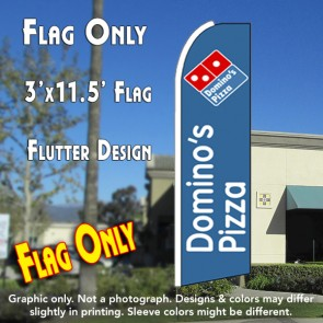 Domino's Pizza Flutter Feather Banner Flag (11.5 x 3 Feet)
