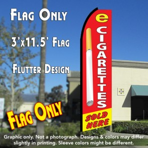 E-CIGARETTES SOLD HERE Flutter Feather Banner Flag (11.5 x 3 Feet)