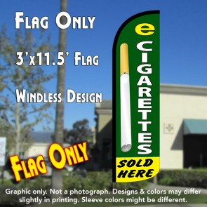 E-Cigarettes Sold Here Windless Polyknit Feather Flag (3 x 11.5 feet)