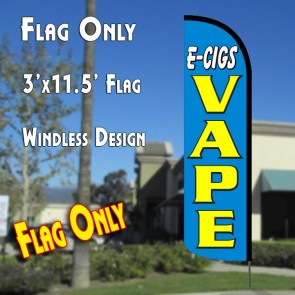 maximize e-cigs vape windless polyknit feather flags