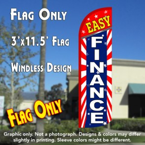 Easy Finance (Starburst) Windless Polyknit Feather Flag (3 x 11.5 feet)