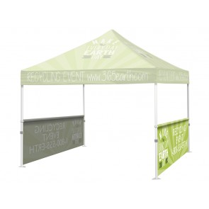 Custom Trade Show Display Tent Half Wall with your Logo Full Color 10x10      FREE GROUND SHIPPING Next Day Print