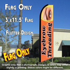 EYEBROW THREADING (Orange) Flutter Feather Banner Flag (11.5 x 3 Feet)