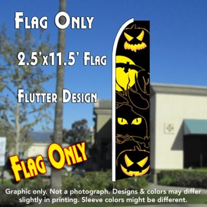 EYES (Halloween) Flutter Feather Banner Flag (11.5 x 2.5 Feet)