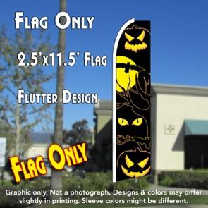 EYES (Halloween) Flutter Feather Banner Flag (11.5 x 2.5 Feet)