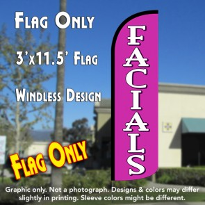 Facials Windless Polyknit Feather Flag (3 x 11.5 feet)