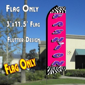 FASHION Flutter Feather Banner Flag (11.5 x 3 Feet)