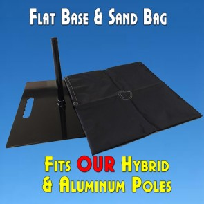 Feather Banner Flat Base Mount And Sand Bag (For Flutter and Windless Poles)