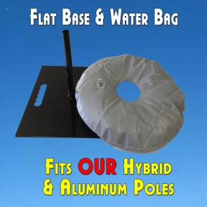 Feather Banner Flat Base Mount And Water Bag (For Flutter and Windless Poles)