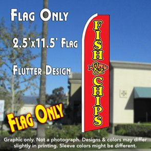 fish & chips flutter feather banner flag