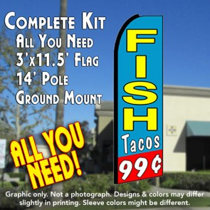 99 cents fish tacos feather flag kit