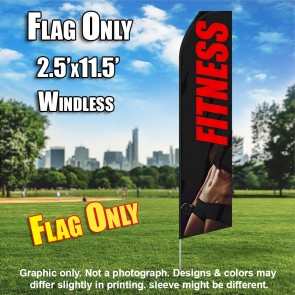 FITNESS black red abs flutter flag