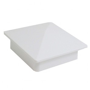 "Vinyl Post Caps White PVC 4"" x 4"" Flat"