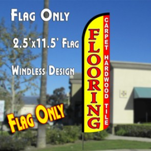 FLOORING Carpet Tile Hardwood Windless Polyknit Feather Flag (2.5 x 11.5 feet)