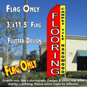 FLOORING CARPET TILE HARDWOOD (RED/YELLOW) Flutter Feather Banner Flag (11.5 x 3 Feet)