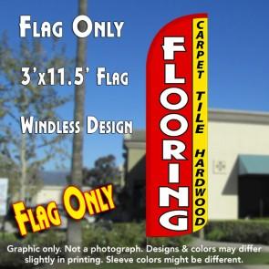 Flooring (Carpet, Tile, Hardwood) Windless Polyknit Feather Flag (3 x 11.5 feet)