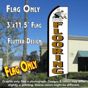 FLOORING (White) Flutter Feather Banner Flag (11.5 x 3 Feet)