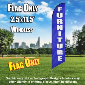 FURNITURE blue white windless flag