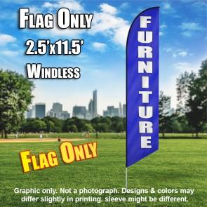 FURNITURE blue white windless flag