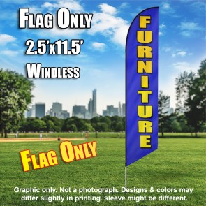 FURNITUREblue yellow windless flag