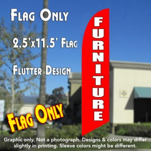 FURNITURE (blue/white) windless Banner Flag Kit (Flag, Pole, & Ground Mt)