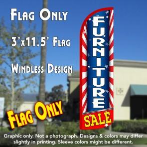 Furniture Sale (Starburst) Windless Polyknit Feather Flag (3 x 11.5 feet)