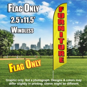 FURNITURE yellow red windless flag