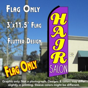 HAIR SALON (Purple) Flutter Feather Banner Flag