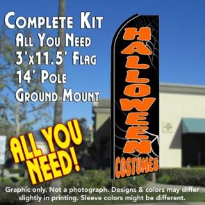 HALLOWEEN COSTUMES Flutter Feather Banner Flag Kit (Flag, Pole, & Ground Mt)