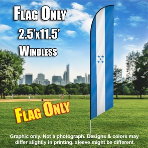 HONDURAS bluw feather windless flag