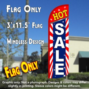 Hot Sale (Starburst) Windless Polyknit Feather Flag (3 x 11.5 feet)