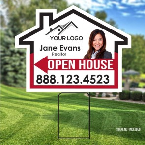 "Custom Digital Full color Round 24"" x 18"" Yard Signs"