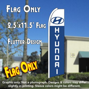HYUNDAI Flutter Feather Banner Flag (11.5 x 2.5 Feet)