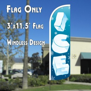 ICE WINDLESS ADVERTISING FLAG