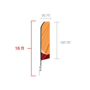 Custom Econo Feather Flag 16 feet tall