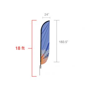 Custom Feather Convex Flag (X-Large) 18 feet tall
