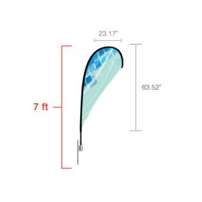 Custom Teardrop Flag (Small) 7ft
