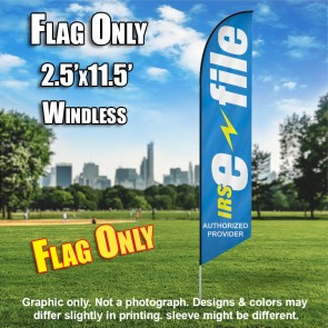 INCOME TAX IRS (E-FILE) Windless Feather Flag (11.5 x 2.5 feet)
