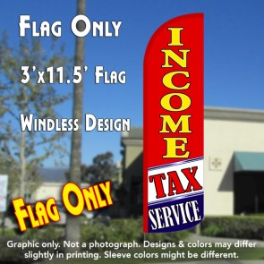 Income Tax Service (Red/White/Blue) Windless Polyknit Feather Flag (3 x 11.5 feet)