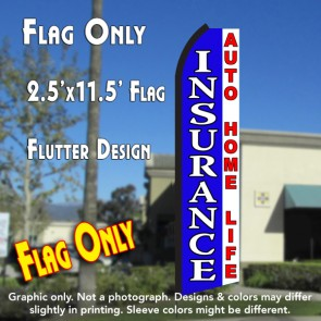 INSURANCE (Blue/White) Flutter Feather Banner Flag