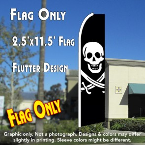 JACK RACKHAM (Swords) PIRATE Flutter Feather Banner Flag (11.5 x 2.5 Feet)