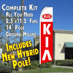 KIA  (11.5 x 2.5) Feather Banner Flag Kit (Flag, Pole, & Ground Mt)