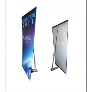 L Table Top Banner Stand