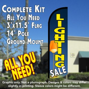 Lighting Sale Windless Feather Banner Flag Kit (Flag, Pole, & Ground Mt)