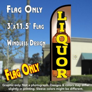 Liquor (Bottle) Windless Polyknit Feather Flag (3 x 11.5 feet)