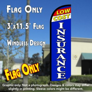 Low Cost Insurance Windless Feather Banner Flag
