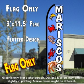 MARISCOS Flutter Feather Banner Flag (11.5 x 3 Feet)