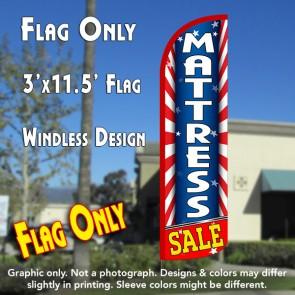 Mattress Sale (Starburst) Windless Polyknit Feather Flag (3 x 11.5 feet)