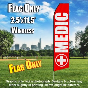 Medic (Red/White) Econo Feather Banner Flag